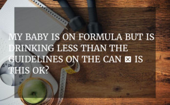 My baby is on formula but is drinking less than the guidelines on the can – is this ok?